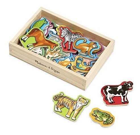 Melissa & doug imanes de animales de madera, juguetes de de