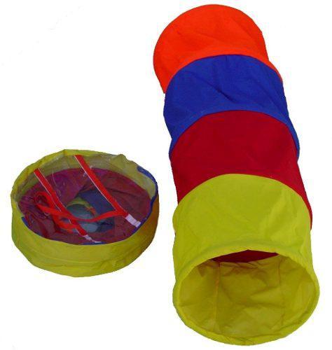 Túnel gusano plegable de 4 secciones 2 piezas