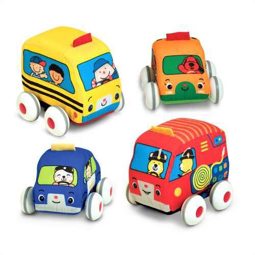 Vehiculos tela fricción bebé melissa pull-back vehicles