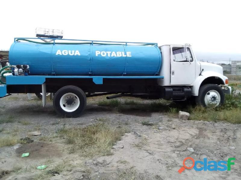 Pipa para agua de 10,000 lts sobre chasis cabina nueva