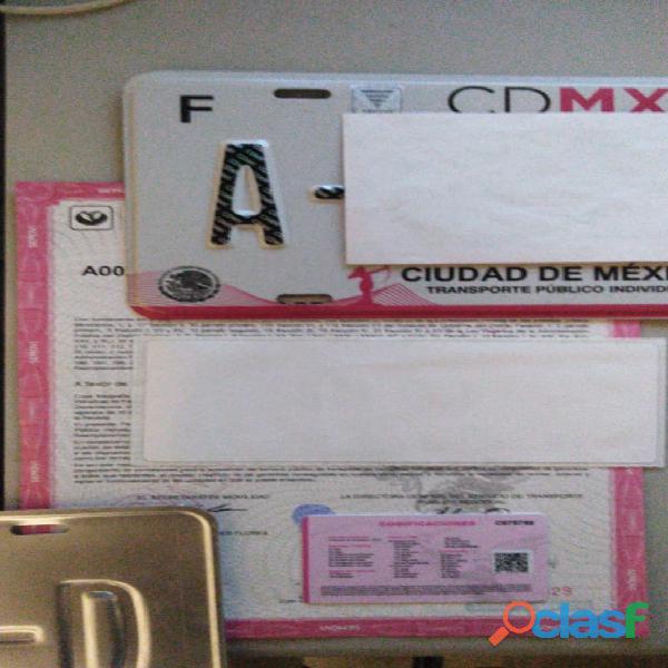 Se venden placas taxi cdmx, 5559178979