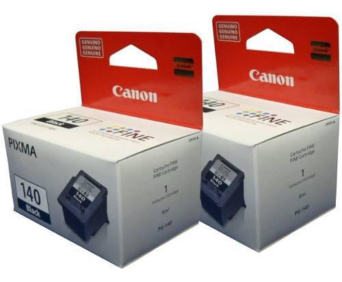Combo de 2 cartuchos canon negro pg-140 mg2110 mg3210 mg3610