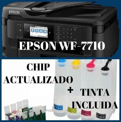 Epson wf7710 tabloide [2019] + sistema continuo
