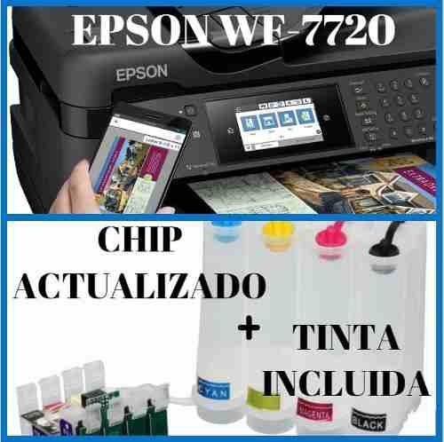 Epson wf7720 tabloide[2019] + sistema continuo