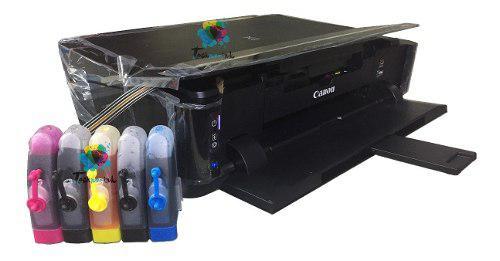 Impresora canon ip 7210 sistema de tinta charola discos wifi
