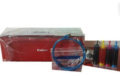 Impresora canon mg3610 roja sistema de tinta continua + usb