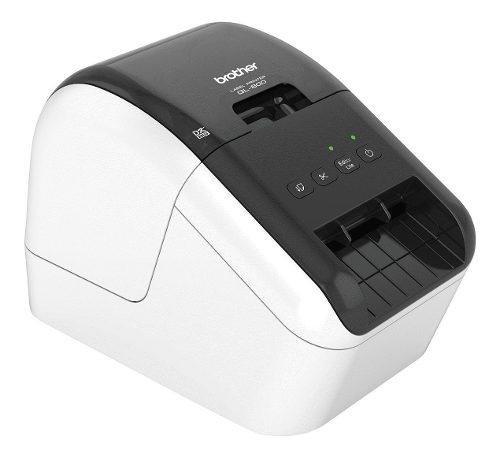 Impresora de etiquetas brother ql800 blanca, termica, usb