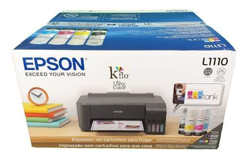 Impresora epson l1110 mas tinta especial para couche