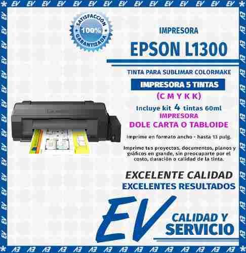 Impresora epson l1300 4tinta doblecarta tabloide