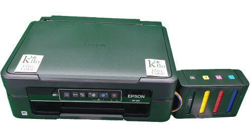 Impresora epson xp241 y sistema de tinta sublimacion sublima