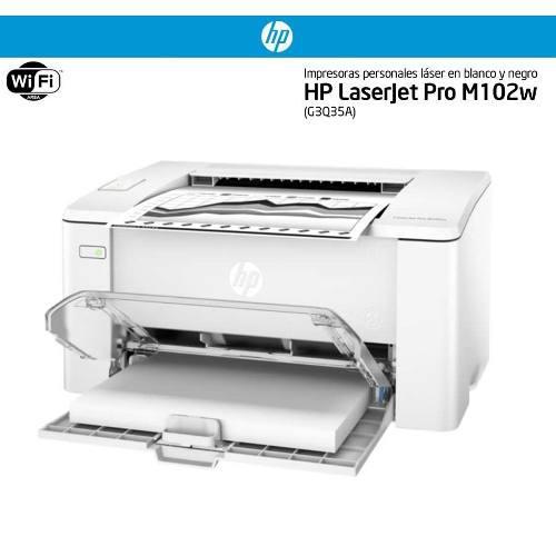 Impresora inalámbrica hp laserjet pro toner m102w