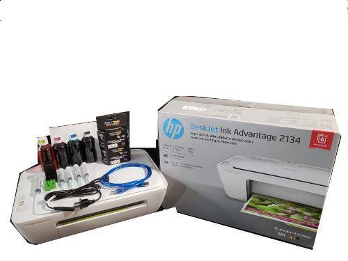 Multifuncional hp deskjet ink 2134 + kit de tinta msi