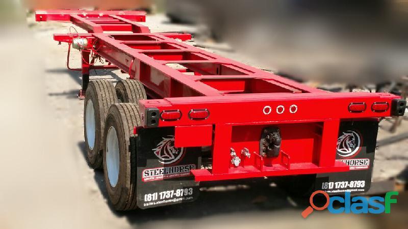 Portacontenedor extendible nuevo marca trailers steelhorse