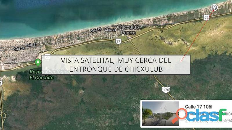 Venta de terreno en chicxulub puerto
