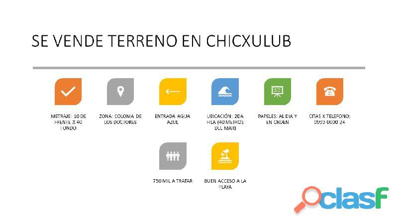 venta de terreno en Chicxulub Puerto 2