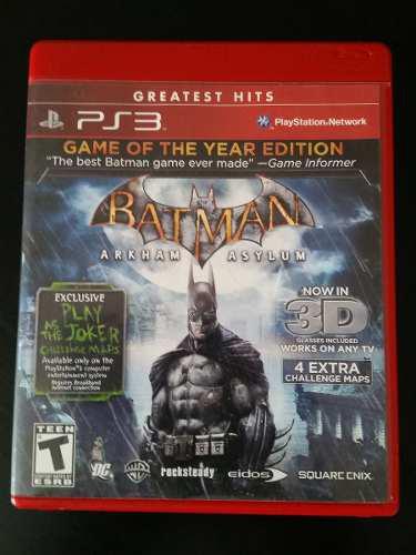 Batman arkham asylum goty game of the year