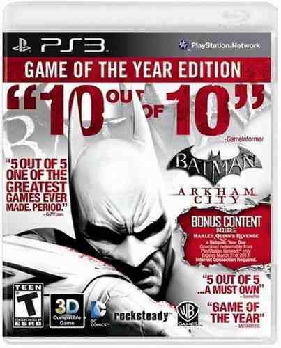 Batman arkham city goty edition ps3 nuevo y sellado juego