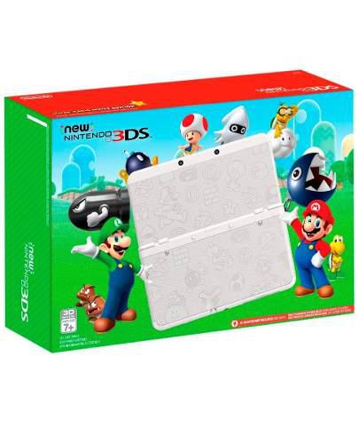 Consola new 3ds blanca super mario edition - nueva sellada