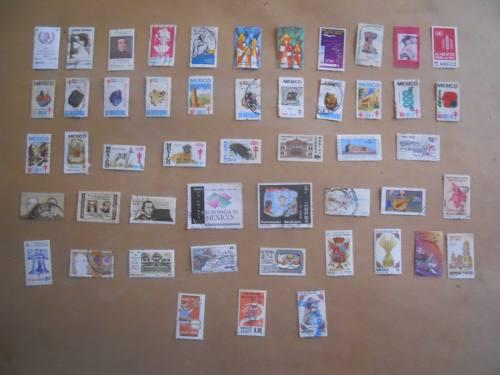 Estampillas postales de mexico 70-80-90s