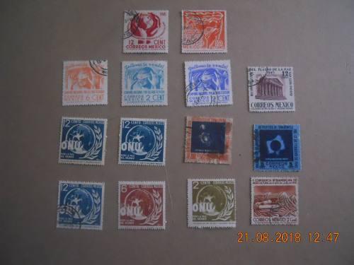 Estampillas postales de mexico años cuarentas.