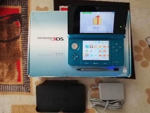 Nintendo 3ds azul aqua 32gb hackeado 40 juegos envío gratis