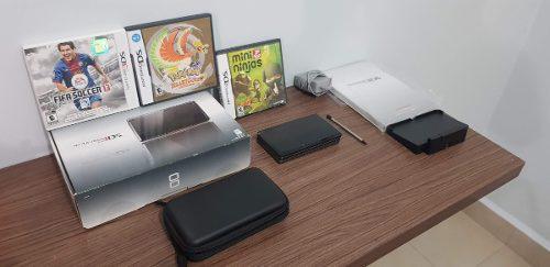 Nintendo 3ds negro + 3 juegos + funda negra