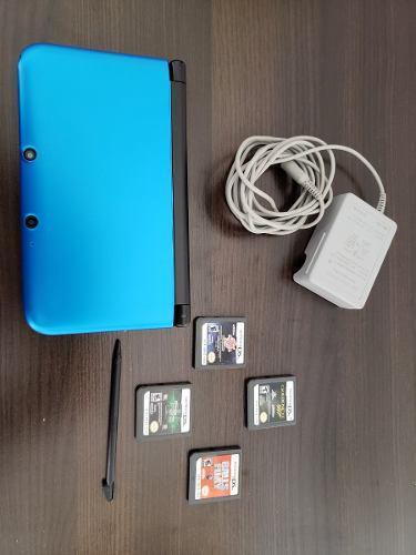 Nintendo 3ds xl 4gb con 4 juegos golden eye bakugan g latern