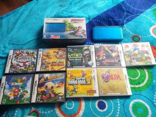 Nintendo 3ds xl con 9 juegos