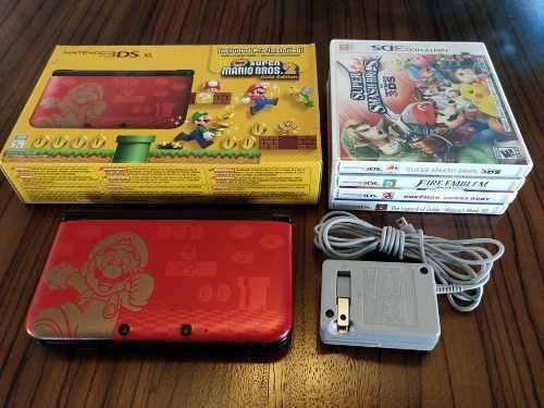 Nintendo 3ds xl edicion especial + 5 juegos