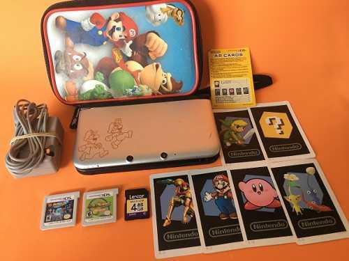 Nintendo 3ds xl edicion mario y luigui dream team dos juegos