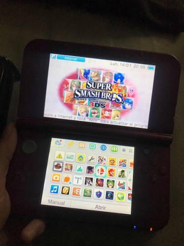 Nintendo new 3ds rojo, días de uso como muchos juegos