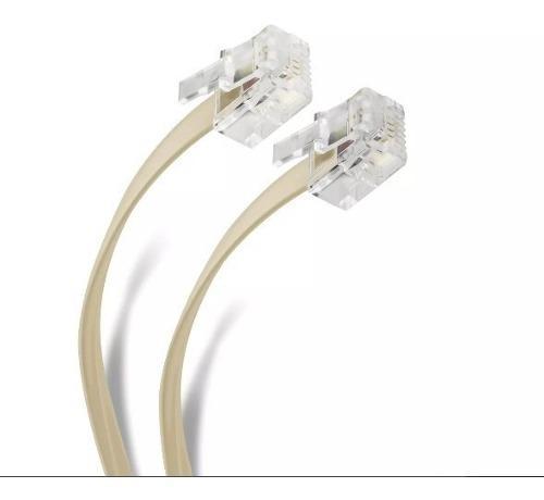 Cable telefónico 4 hilos 7.50 mts ta-338iv