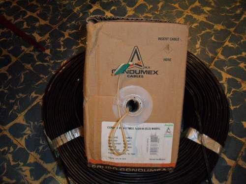 Cable telefonico int. icev 2 hilos condumex / 250 mts. agris