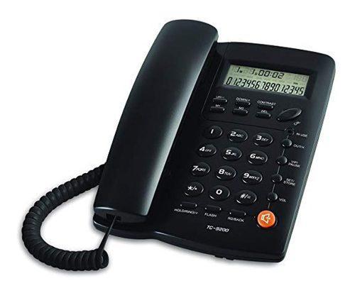 Lote 10 telefono alambrico identificador de llamadas altavoz