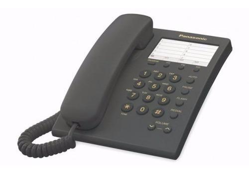 Panasonic teléfono básico kx-ts550, alámbrico, negro