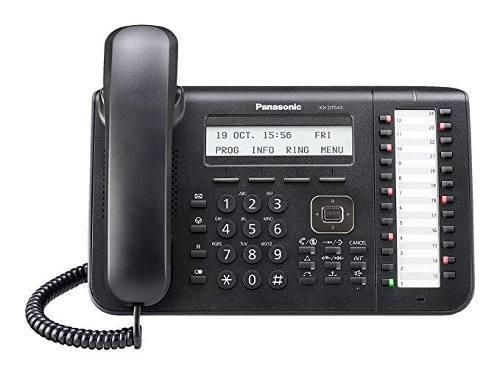 Panasonic teléfono negro digital lcd de 3 líneas, con luz