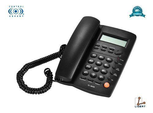 Telefono alambrico casa oficia altavoz negro homedesk tc9200