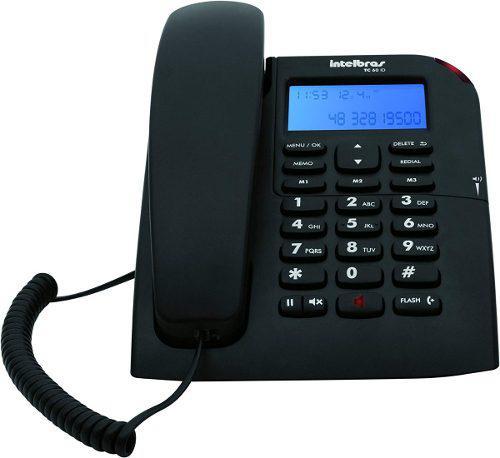 Teléfono con identificador de llamadas fijo alámbrico