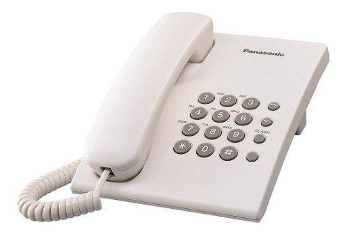 Teléfono panasonic kx-ts500 alámbrico básico unilinea