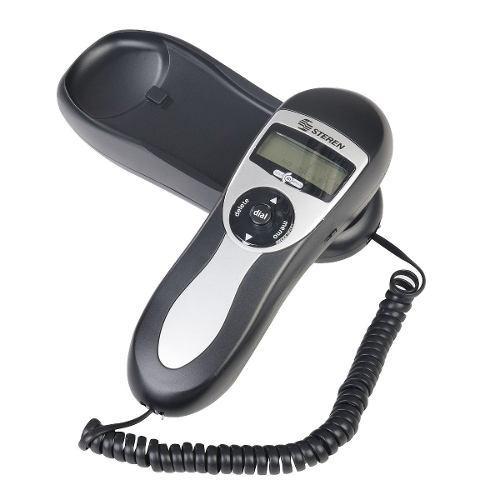 Teléfono tipo góndola negro identificador de llamadas