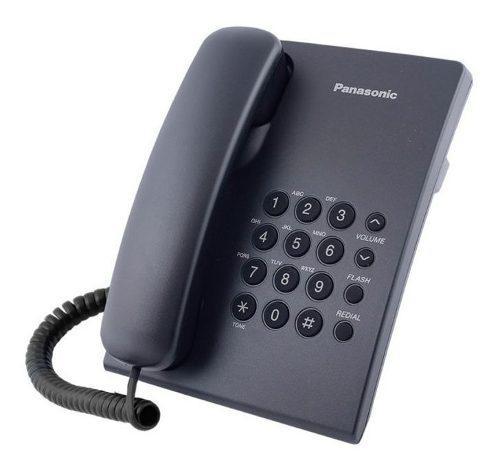 Teléfono unilínea panasonic kx ts500 (blanco o negro)