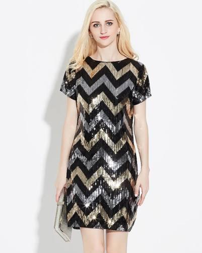 Elegante vestido de fiesta con lentejuelas vestidos noche