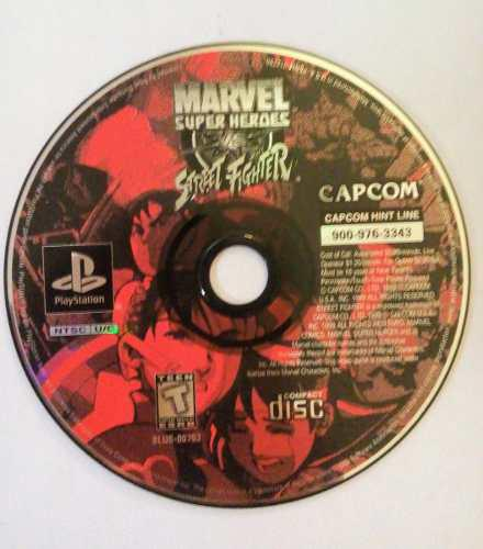 Marvel super heroes vs street fighter ps1 playstation 1 sf