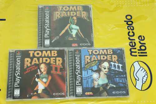 Tomb raider 1, 2, 3 para playstation 1 completos eidos.