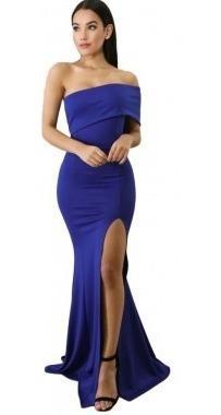 Vestido Azul Fiesta Graduacion Rebajas Noviembre Clasf