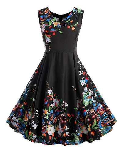 Vestido de fiesta impreso de la manera para las mujeres