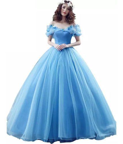 Vestido Xv Años Azul Rebajas Diciembre Clasf