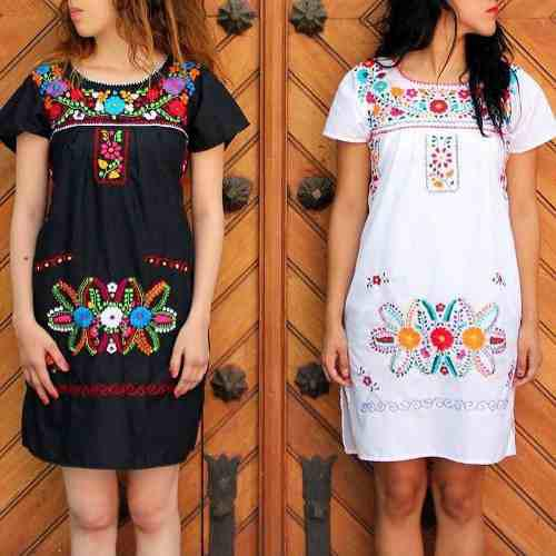 Vestidos bordado a mano mayoreo /menudeo artesania mexicana