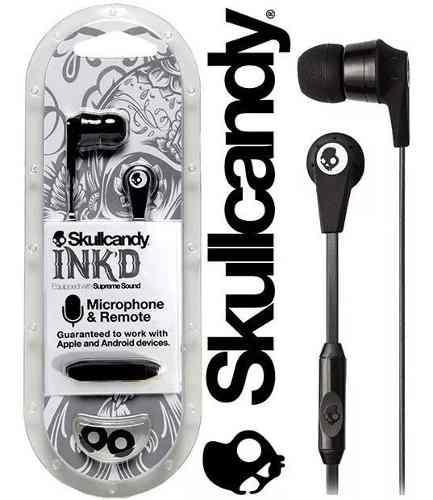 Audifonos skullcandy alambrico manos libres microfono