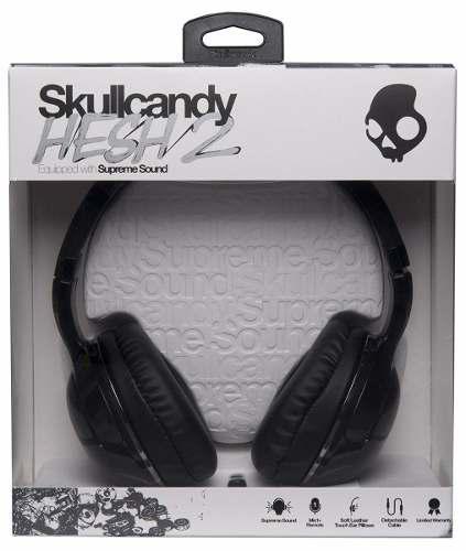 Hesh 2 alambricos skullcandy audifonos manos libres en caja